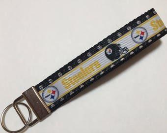 Pittsburgh Steelers Key Fob Keychain wristlet