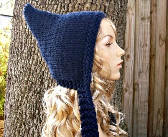 Knit Hat Navy Blue Womens Hat - Navy Pixie Hat Navy Blue Knit Hat - Navy Blue Hat Navy Hat Navy Blue Pixie Hat Womens Accessories Winter Hat