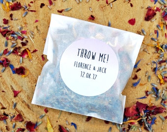 10 personalised confetti packets, biodegradable confetti, real flower, wedding confetti, eco wedding, eco confetti, flower petals, petals