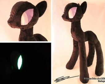 Enderpony Custom Plushie - Fanmade Pony style crossover - inspired by minecraft