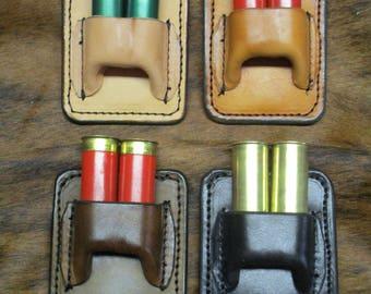 Two Round Shotgun Shell Holder,Clip on SASS Shotgun Shell Holder, CAS Shotgun Shell Holder