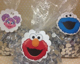 Sesame Street, Elmo, Abby Party Candy or Favor Bags - Set of 10