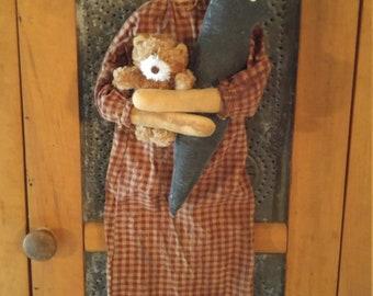 Handmade Cloth Doll Prim Raggedy Annie