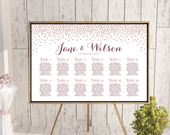 Rose Gold Find your Seat Chart, Printable Wedding Seating Chart, Seating Poster, Wedding Seating Sign, Wedding Seating Board TH68 dd0 WC150