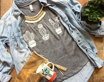 Dolman- Cactus tee - Cactus shirt