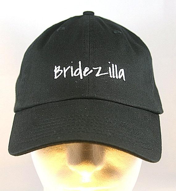 Bridezilla - Ball Cap (Black with White Stitching)