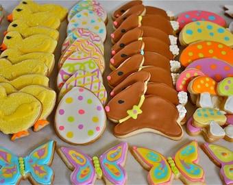 Spring sugar Cookies-Easter sugar cookies-easter cookies-fosted cookies-pastel cookies