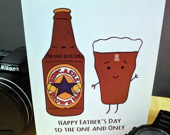 Father's Day Card Newcastle Brown Ale