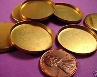 16 brass round high wall bezels 18mm
