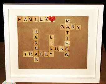 Simple Personalised Family Frame