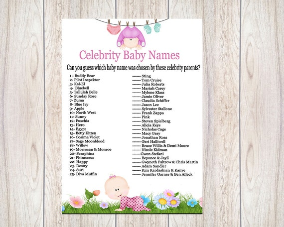 photograph regarding Celebrity Baby Name Game Printable known as Little one Shower Strategies: Celeb Boy or girl Reputation Guessing Sport,Little one