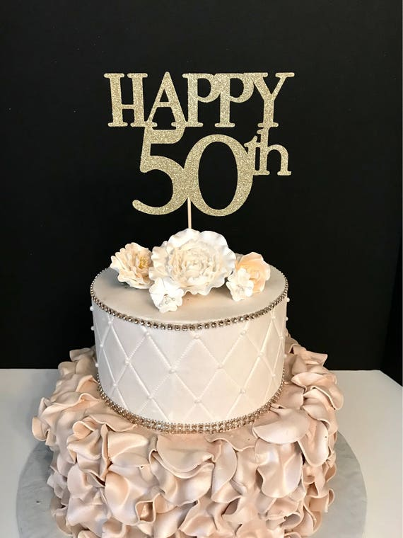 Any Number Happy 50th Birthday Cake Topper 50 And Fabulous
