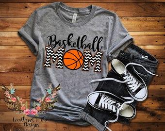 Team Spirit Basketball Mom Tee/ Basketball Mom Tee/ Bella Canvas Shirt/ Basketball Mom Shirt/ Raglan/ Gildan SoftStyle Tee
