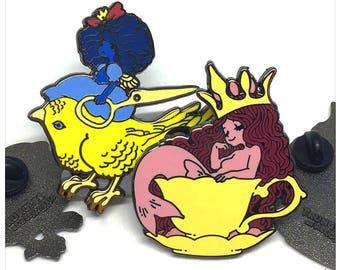 Queens of the Tiny Tarot Enamel Pins