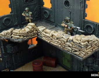 Sandbags for miniature game 28mm