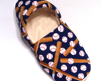 Baseball Adult Slippers (with matching baby if you'd like!)