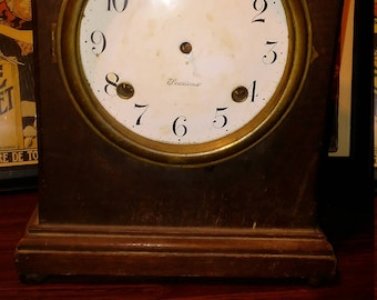 Rare Antique Sessions Mantle Clock for parts or repair