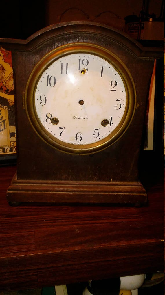 Antique sessions mantle clock parts