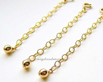 2 pcs 2.5 in Extender Chain 14K Gold Filled  with Clasp F372GF