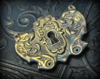 Sale! Gargoyle escutcheon pendant