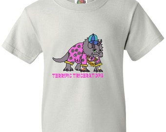 Terrific Triceratops Youth Tee