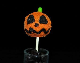 HALLOWEEN CAKE POPS, Jack o Lantern Cake Pops, Halloween Party Favors, Halloween Treats