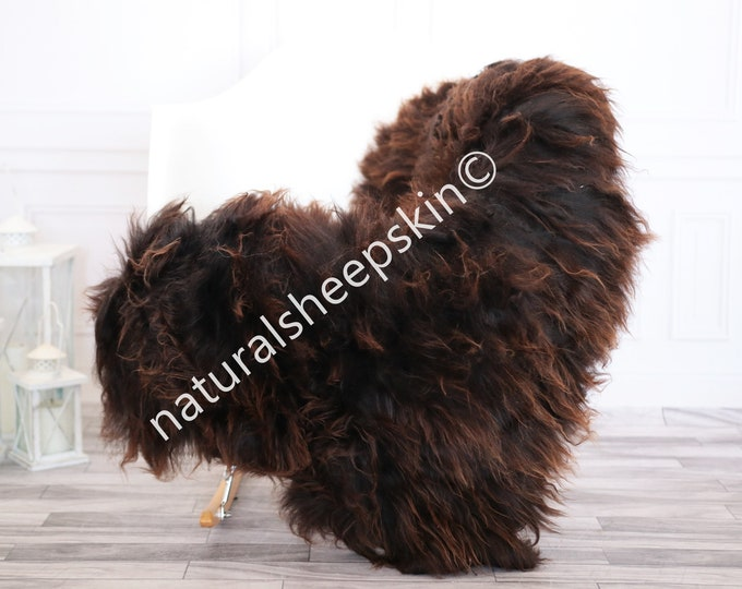 Icelandic Sheepskin | Real Sheepskin Rug | brown Sheepskin Rug | Fur Rug | Homedecor #febisl32