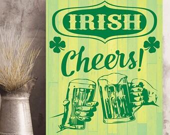 St. Patrick's Day Irish Cheers Photo Print  or Wall Art on Metal or Wood.