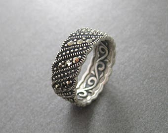 Ring set with Marcasite Silver 925/000e
