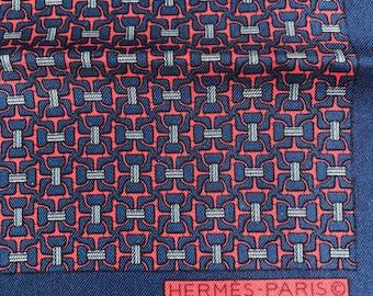 Vintage Hermes Neiman Marcus Pocket Square