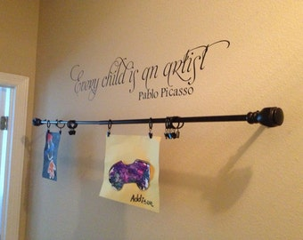 Every Child Is An Artist Pablo Picasso 38x8.5  Vinyl Wall Lettering Words Quotes Decals Art Custom