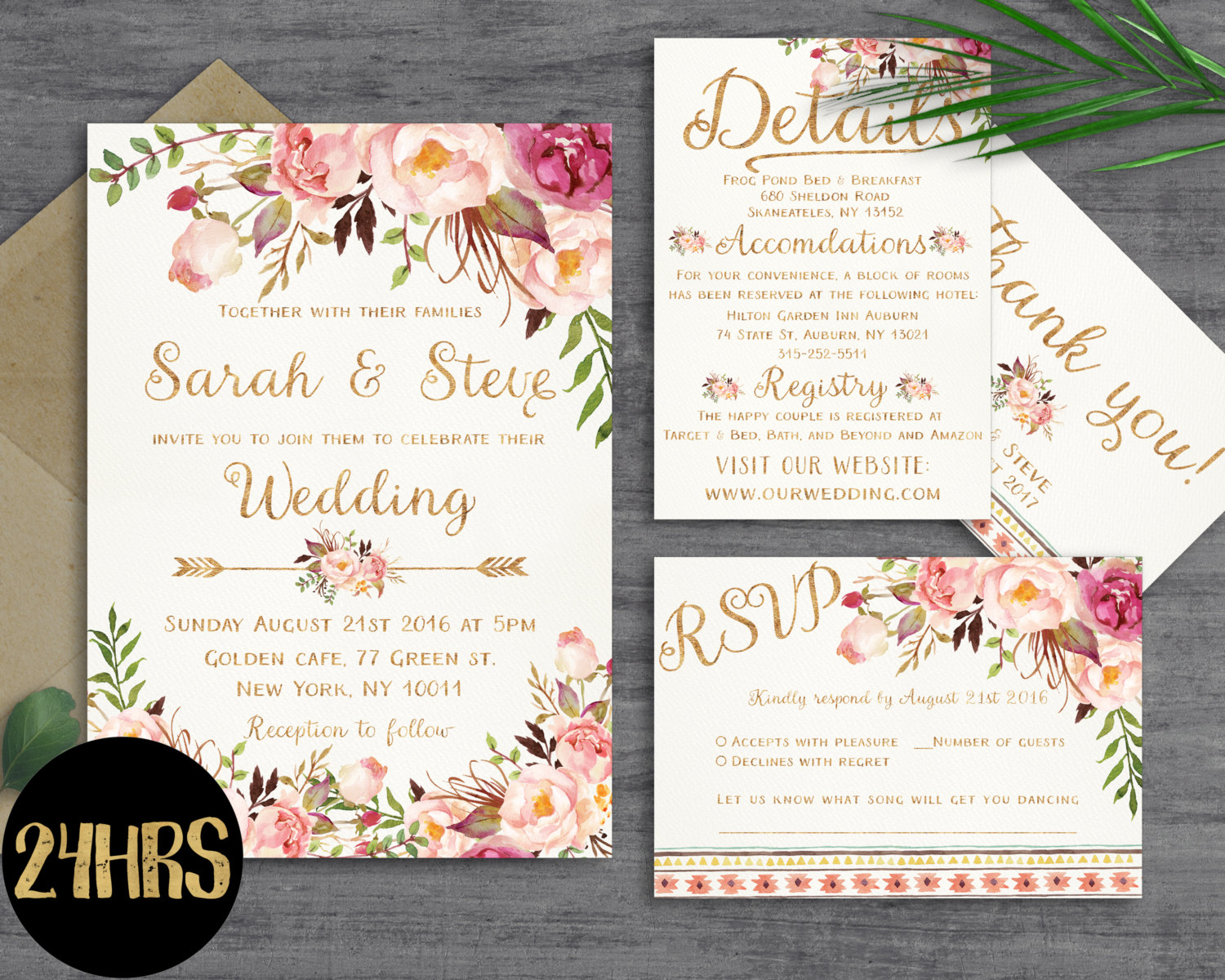 printing wedding invitations floral wedding invitation template wedding invitation 6824