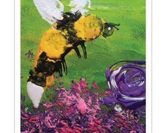 "11x17"" art print of ""Bumblebee"" by The Artist Emma"