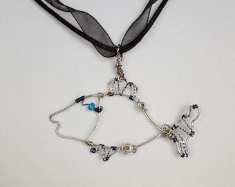 Wire Wrapped Fish Beach Jewelry Teen Girls Jewelry Girls Jewelry Free Shipping Jewelry