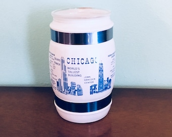 Chicago Sears Tower Souvenir Mug, World's Tallest Building Siesta Ware Collector Glass, Chicago Souvenir Mug, Siesta Ware Frosted Mug