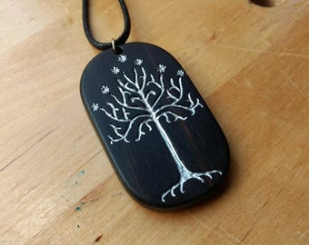 Ebony Tree of Gondor Pendant - Lord of the Rings