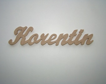 Names 8 letters to chose from: 5 cm approx decorate wooden