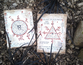 Parchment Mysterium Xarxes ritual Oblivion the Elder Scrolls handmade