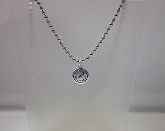 "Astrological / Zodiac Sign Necklace - Astrology Pendant on an 18"" steel necklace - Sagittarius Shown - Most Star Signs Available"