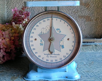 Vintage Baby Scale / Baby Boy Nursery /Vintage Scale / Photography Prop / Store Display
