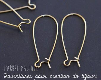 10 sleeper long 33 mm wide 14 mm antique gold earrings