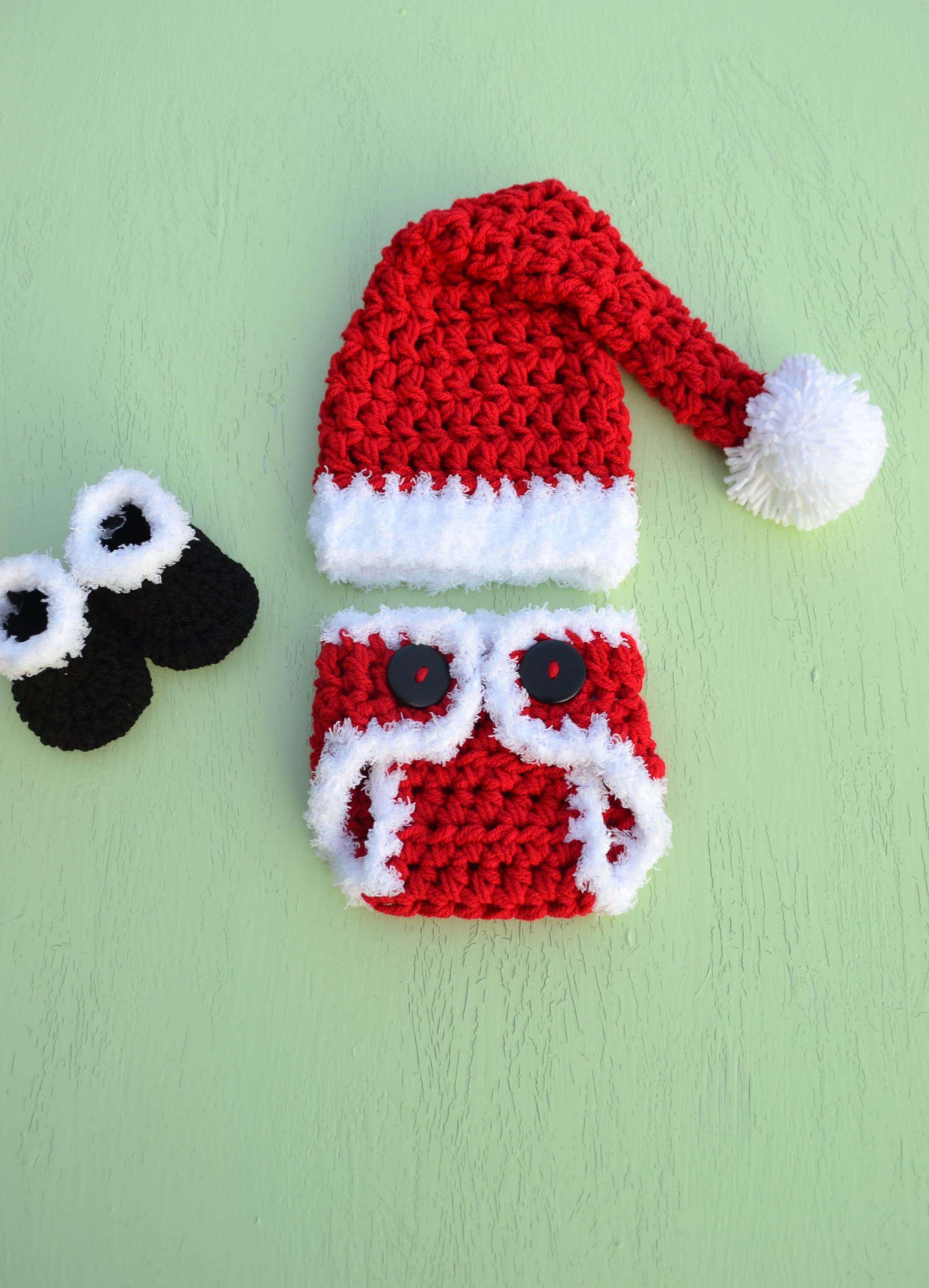 Newborn Baby Christmas Outfit Santa Claus Outfit Santa Baby