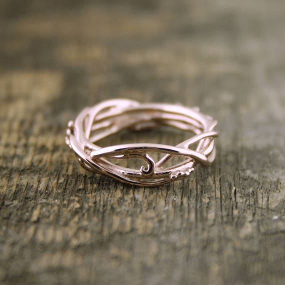 14Kt Rose Gold Elvin Flow Organic Whimsical Engagement Ring