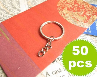 Key Chain with Split Ring - Silver - 50 pieces SK024