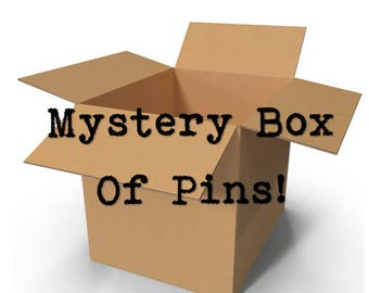 Mystery Box of Pins - Minimum 10 pins included, many sizes and themes