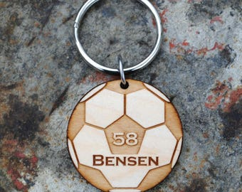 Personalized Soccer Keychain