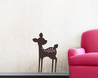 Fawn Vinyl Wall Decal - Nursery Baby Girl Boy Children - Nursery Wall Decal - Deer Wall Decal