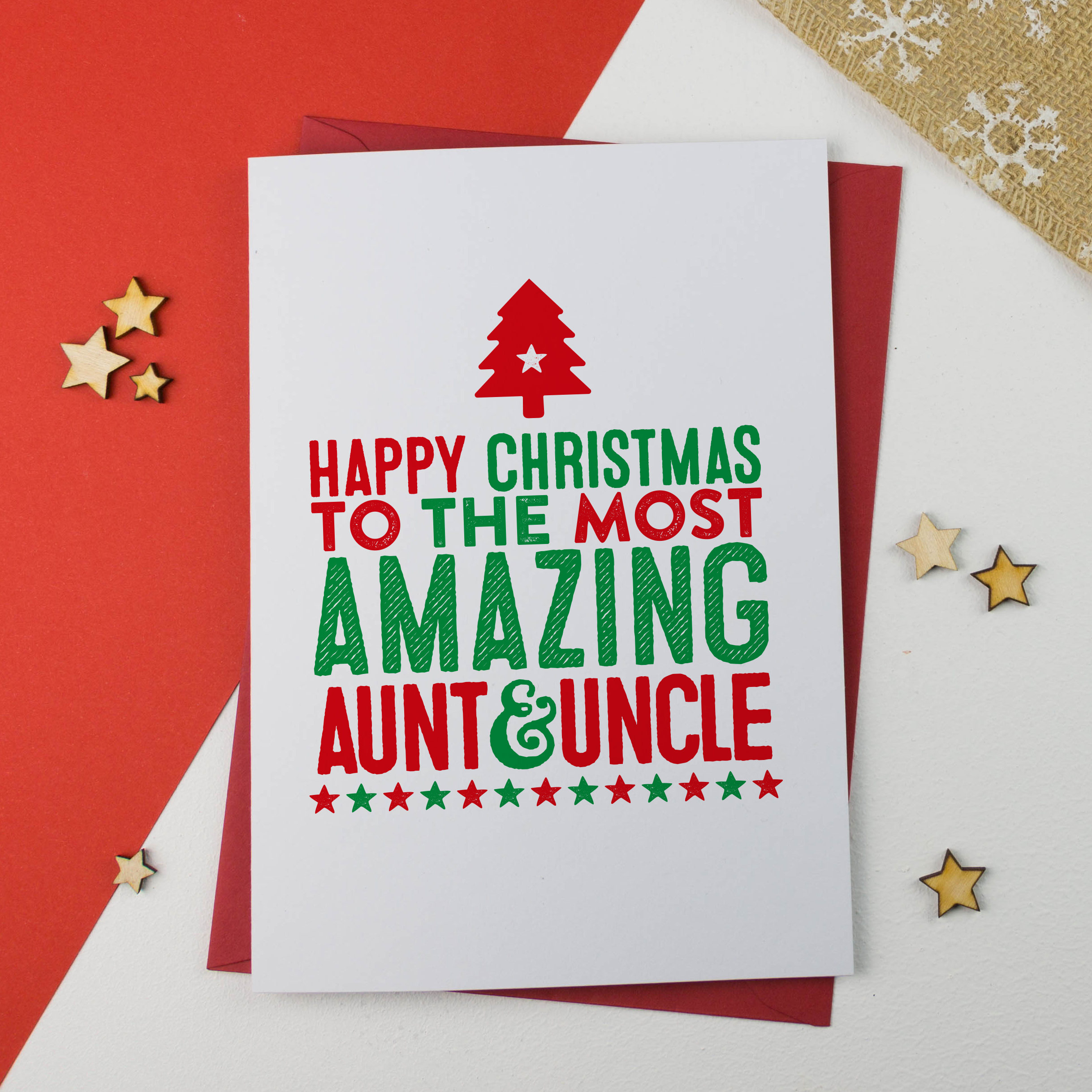 Aunt and uncle christmas card auntie and uncle christmas zoom kristyandbryce Choice Image