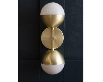 Brass Orb Sconce