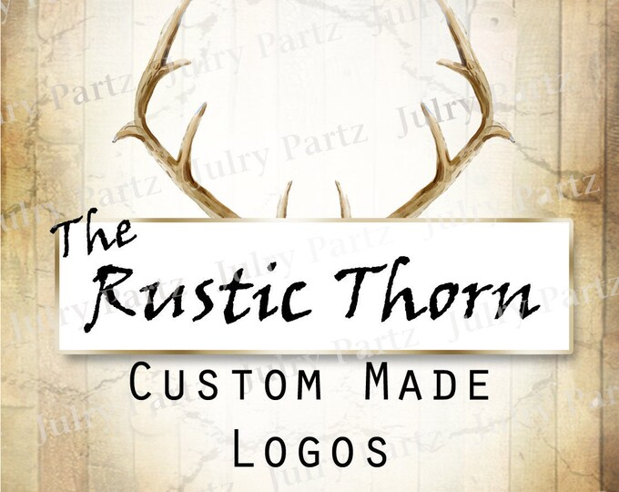 LOGO in Rustic Thorn•Premade Logo•Jewelry Card Logo•Flower Logo•Custom Logo•Shop Logo